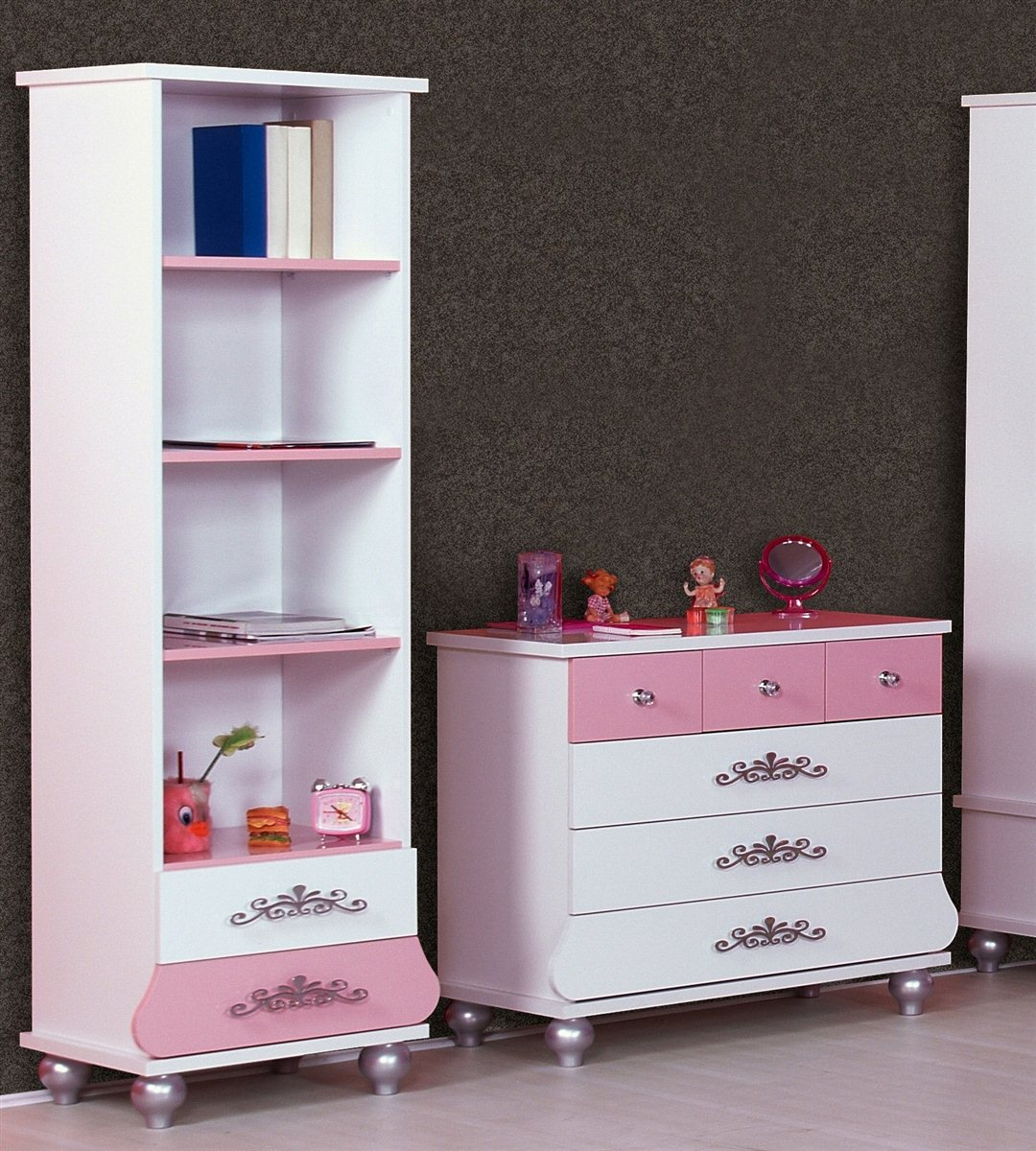kinderzimmer prinzessin kinder bett m dchen pink prinzessinenbett kleiderschrank ebay. Black Bedroom Furniture Sets. Home Design Ideas