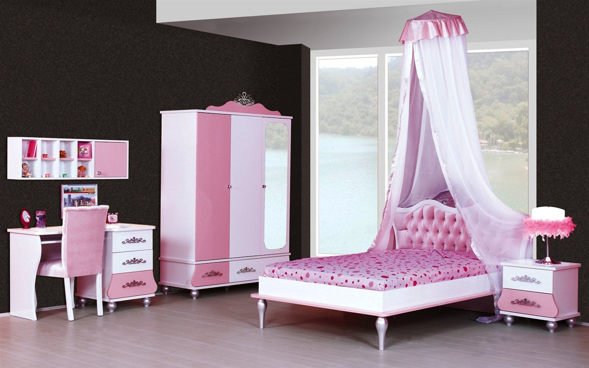 anastasia himmelbett kinder bett himmel rosa 120x200 ebay. Black Bedroom Furniture Sets. Home Design Ideas