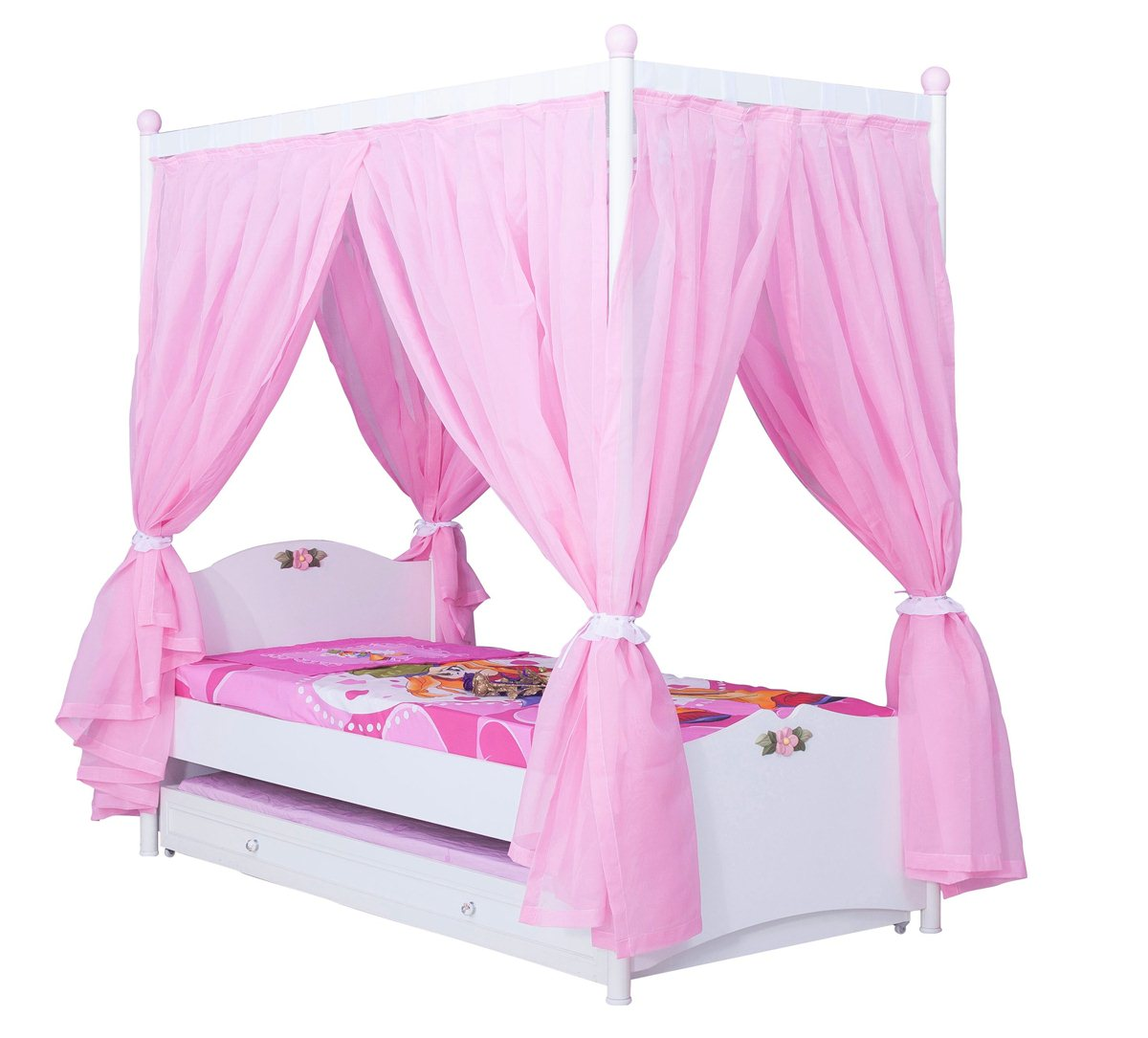 cindy himmelbett standardbett kinderzimmer m bel m dchen kinderbett ebay. Black Bedroom Furniture Sets. Home Design Ideas