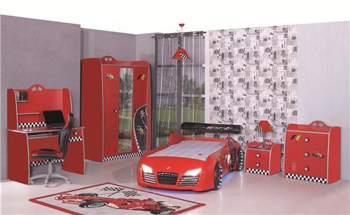 Kinderzimmer auto autobett rot m bel kinder bett auto for Kinderzimmer komplett auto