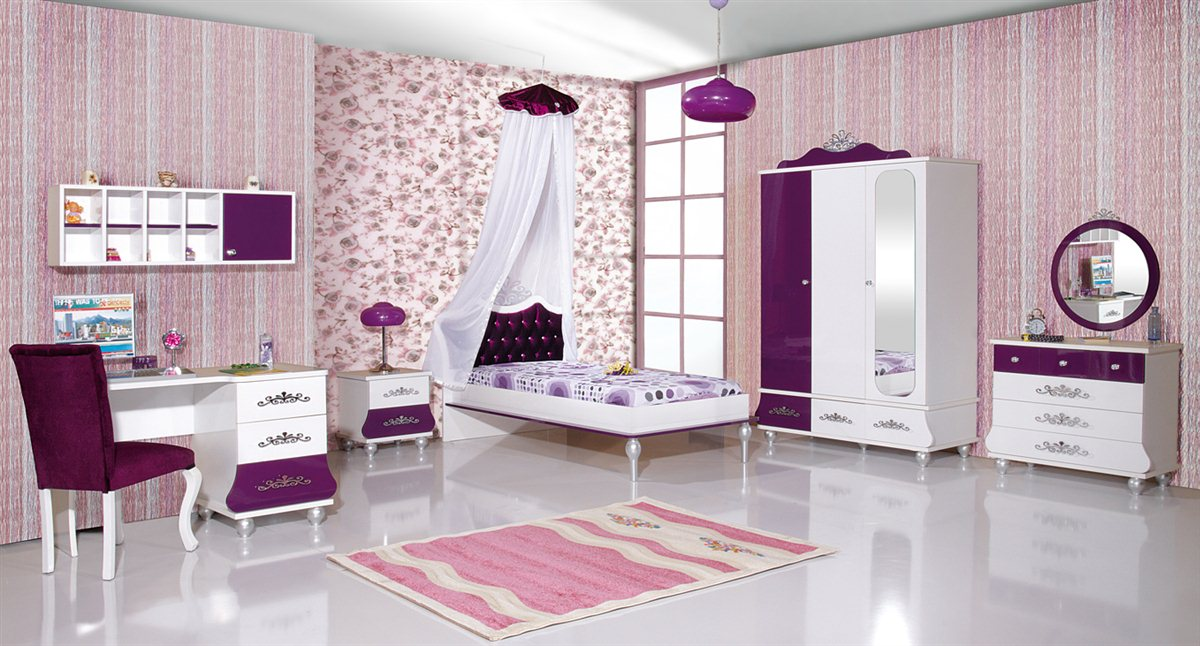 kinderbett prinzessin kinder bett m dchen lila prinzessinenbett ebay. Black Bedroom Furniture Sets. Home Design Ideas