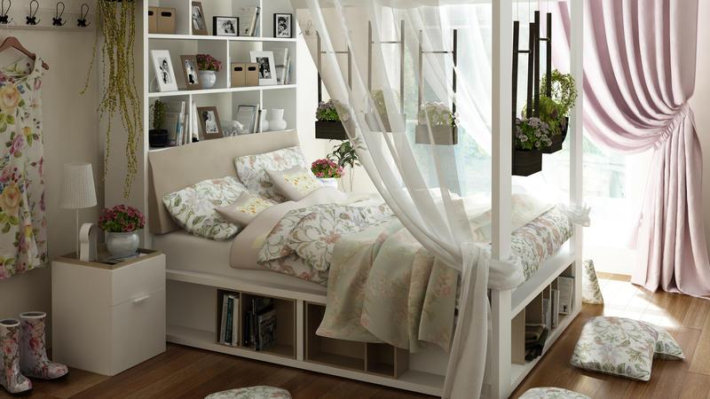 himmelbett lichterkette selber machen. Black Bedroom Furniture Sets. Home Design Ideas
