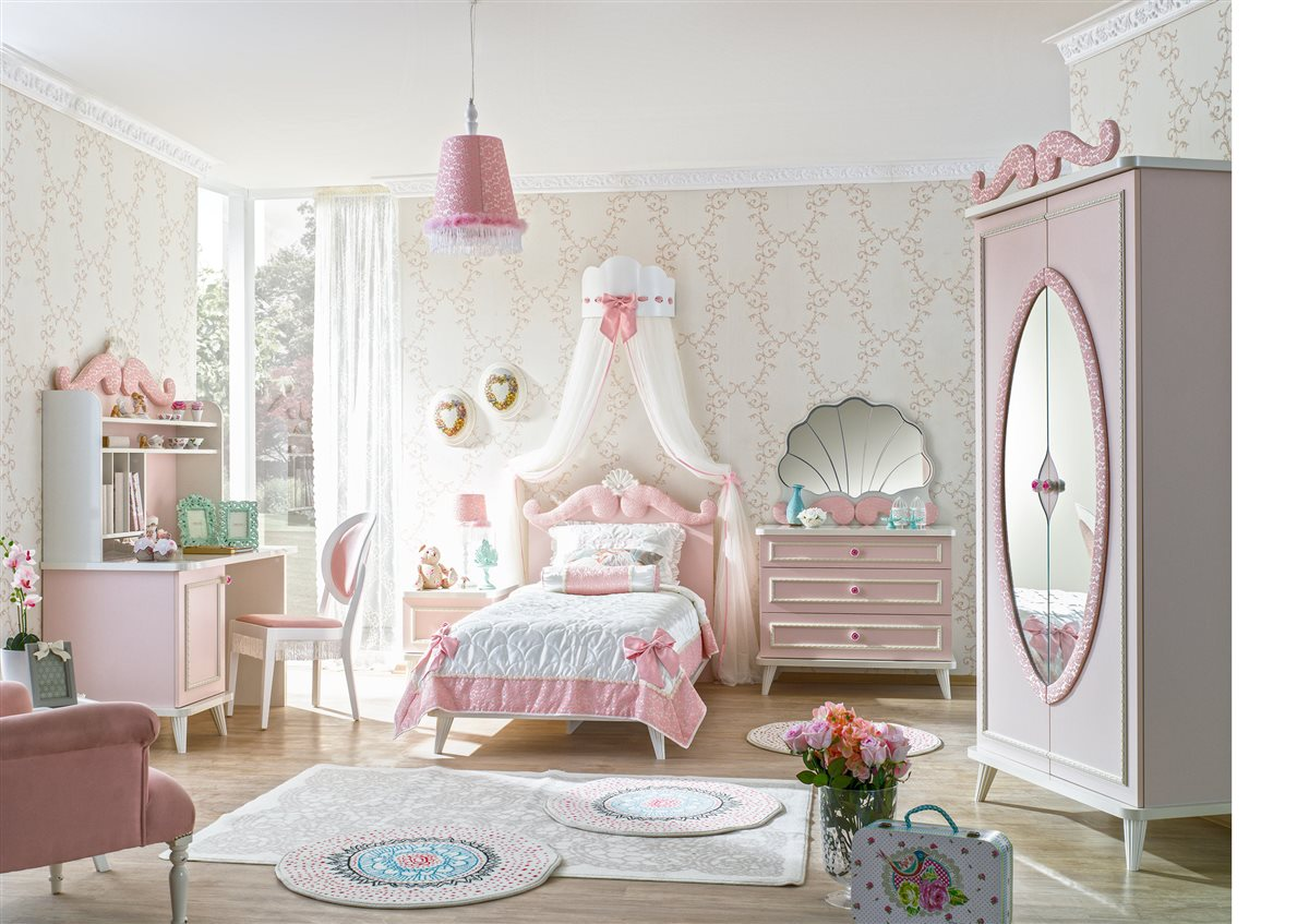 rosa stauraum kinderbett m dchen wei stauraumbett m dchen bett ebay. Black Bedroom Furniture Sets. Home Design Ideas
