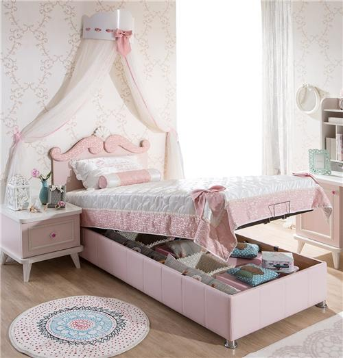 rosa kinderbett m dchen wei option himmel kleiderschrank schreibtisch ebay. Black Bedroom Furniture Sets. Home Design Ideas