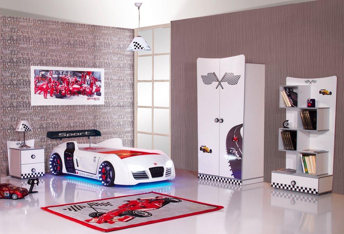 Kinderzimmer autobett formular v8 m bel kinder bett auto autobetten ebay - Auto kinderzimmer ...