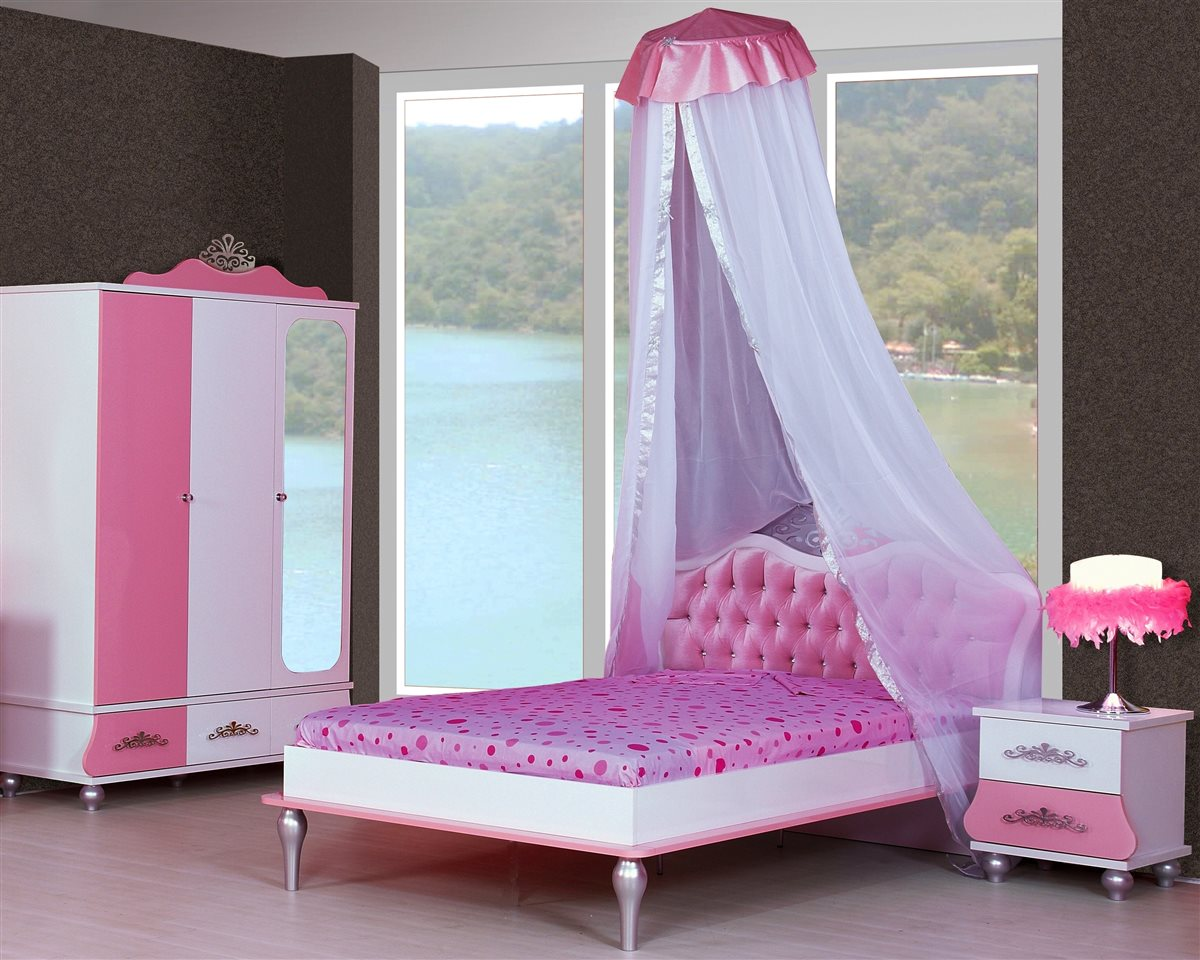 schreibtisch kinderzimmer prinzessin kinder mädchen pink tisch, Hause deko