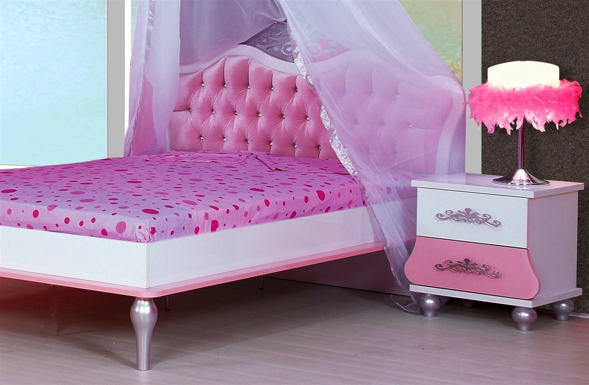 3er kleiderschrank kinderzimmer prinzessin kinder bett m dchen pink prinzessinen. Black Bedroom Furniture Sets. Home Design Ideas