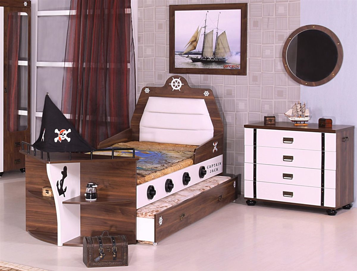 Piratenbett piratenzimmer kinderbett pirat bett junge kind ebay - Piratenbett kinderzimmer ...