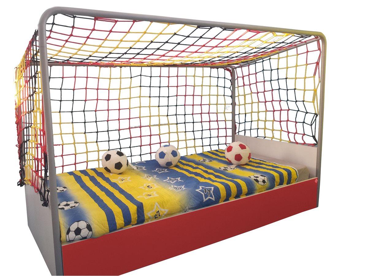 wm fu ballzimmer fu ballbett rot gelb kleiderschrank bett fu ball ebay. Black Bedroom Furniture Sets. Home Design Ideas