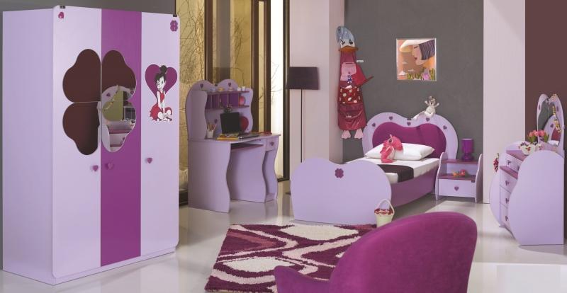 Kinderzimmer komplett mädchen  5er Kinderzimmer komplett Candy Mädchen Bett Schrank Kommode | eBay