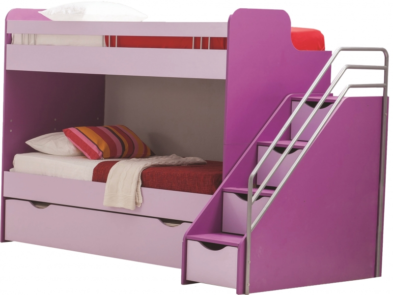 kinderbett 90 x 200 lila candy m dchen zimmer m bel m dchen bett ebay. Black Bedroom Furniture Sets. Home Design Ideas