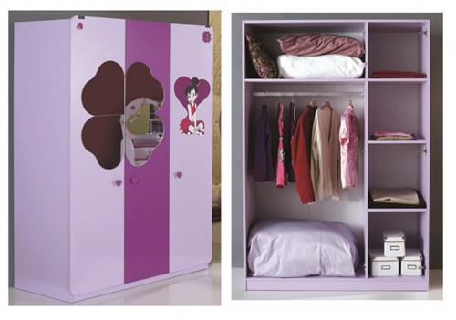 kinderbett 90 x 200 lila candy m dchen zimmer m bel m dchen bett ebay. Black Bedroom Furniture Sets. Home Design Ideas