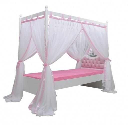 anastasia himmelbett kinder bett himmel rosa 120x200 ebay. Black Bedroom Furniture Sets. Home Design Ideas