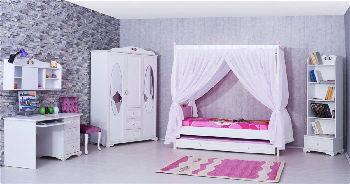 himmel vorhang wei f r cindy kinderzimmer kinder. Black Bedroom Furniture Sets. Home Design Ideas