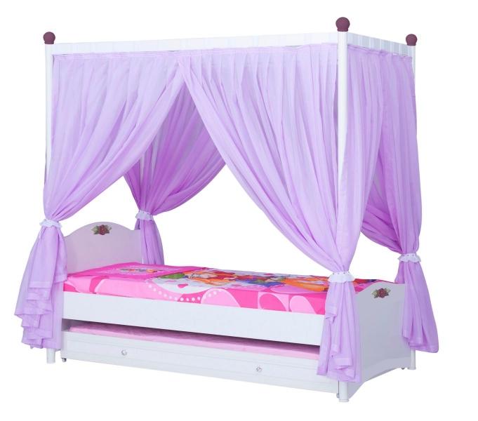 cindy himmelbett standardbett kinderzimmer himmel wei lila pink ebay. Black Bedroom Furniture Sets. Home Design Ideas