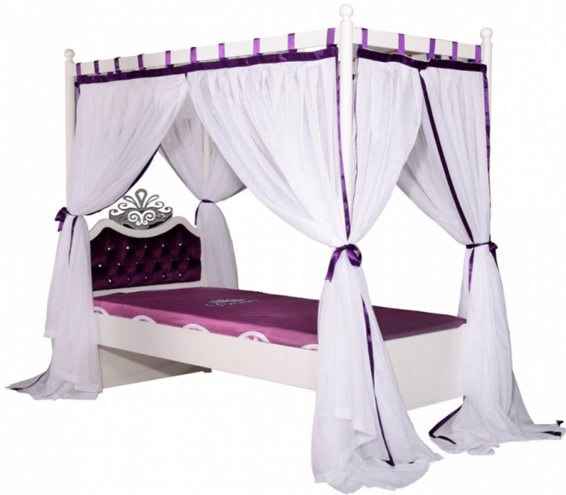 kinderbett m dchen lila anastasia 120x200 mit stauraum bett ebay. Black Bedroom Furniture Sets. Home Design Ideas