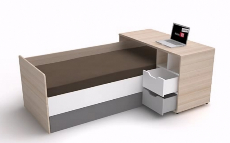 evoly jugendzimmer arbeitszimmer schreibtisch bett schrank sofa ebay. Black Bedroom Furniture Sets. Home Design Ideas