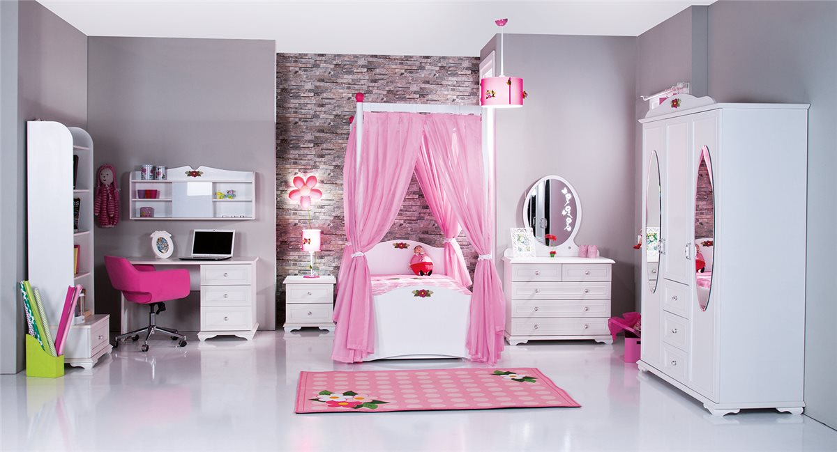 cindy himmelbett standardbett kinderzimmer m bel m dchen. Black Bedroom Furniture Sets. Home Design Ideas