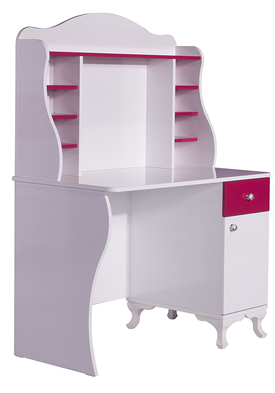 daisy white aufsatz f r schreibtisch fuchsia wei ebay. Black Bedroom Furniture Sets. Home Design Ideas