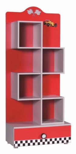 new turbo b cherregal rot kinder jungen regal f r schule. Black Bedroom Furniture Sets. Home Design Ideas