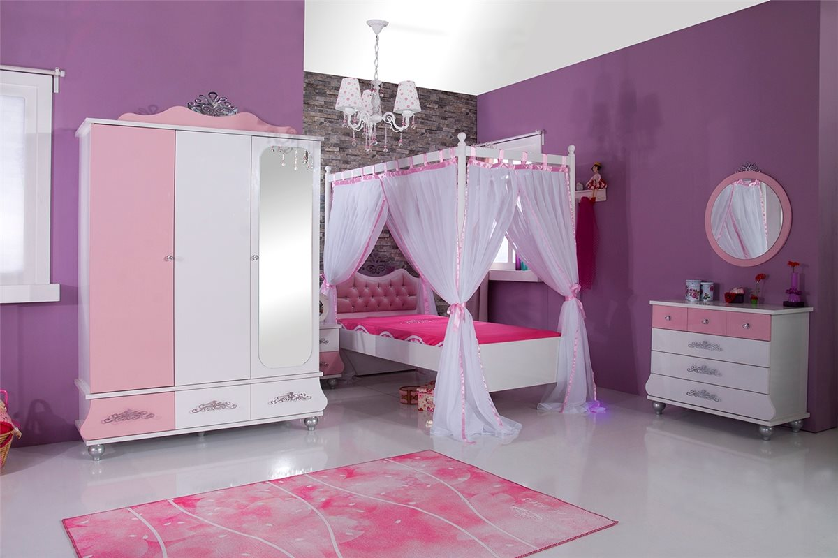 kinderbett anastasia roas 90x200 m dchen kinderzimmer m bel ebay. Black Bedroom Furniture Sets. Home Design Ideas