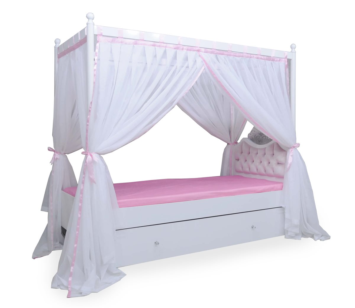 anastasia himmelbett kinder bett himmel rosa 200 x 90 ebay. Black Bedroom Furniture Sets. Home Design Ideas