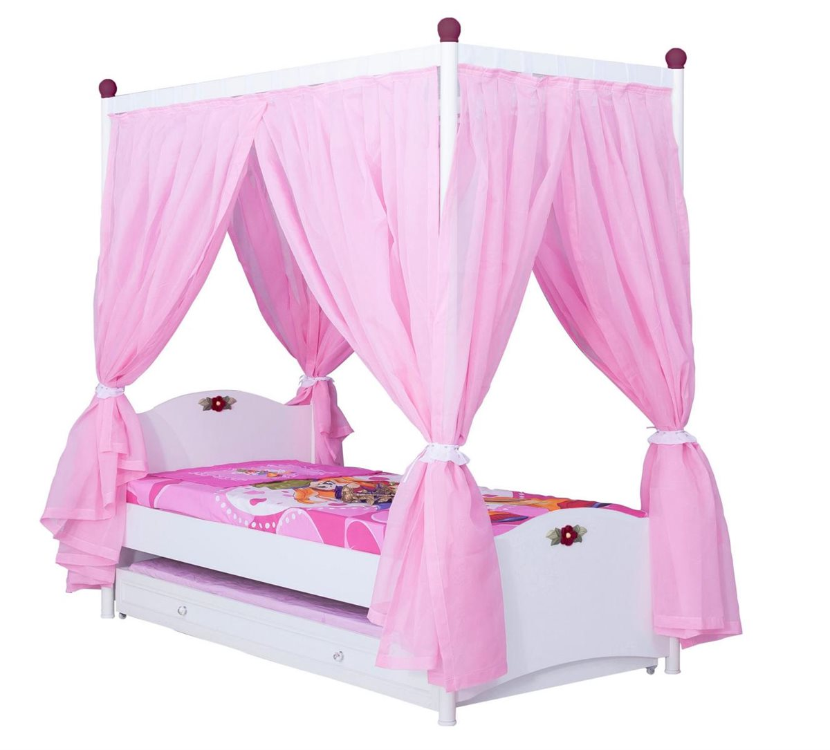10er set kinderzimmer m bel cindy himmelbett kinderbett m dchen ebay. Black Bedroom Furniture Sets. Home Design Ideas