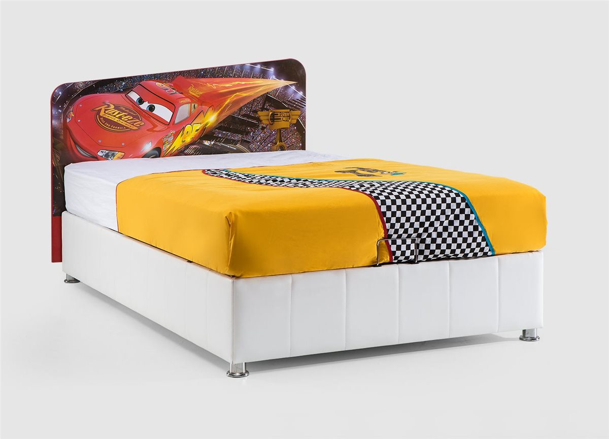 walt disneys cars stauraumbett 120x200 cm ebay. Black Bedroom Furniture Sets. Home Design Ideas