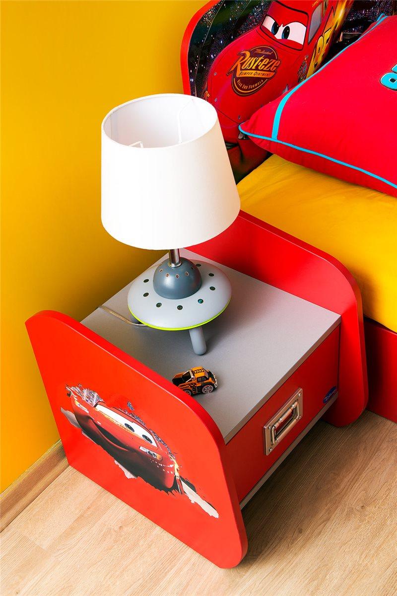walt disneys cars nachttisch cars piston cup rot silber. Black Bedroom Furniture Sets. Home Design Ideas