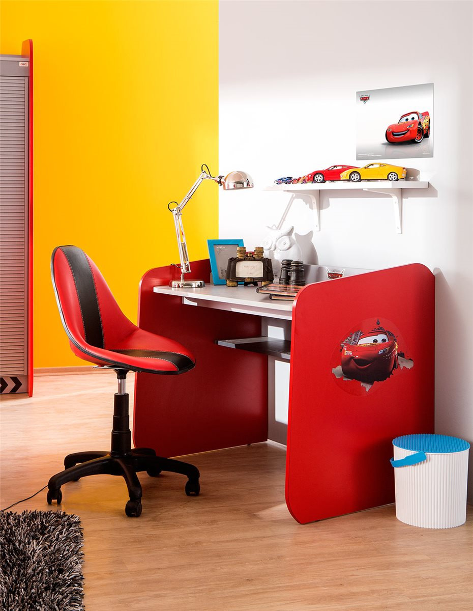 walt disneys cars schreibtisch cars piston cup rot silber ebay. Black Bedroom Furniture Sets. Home Design Ideas