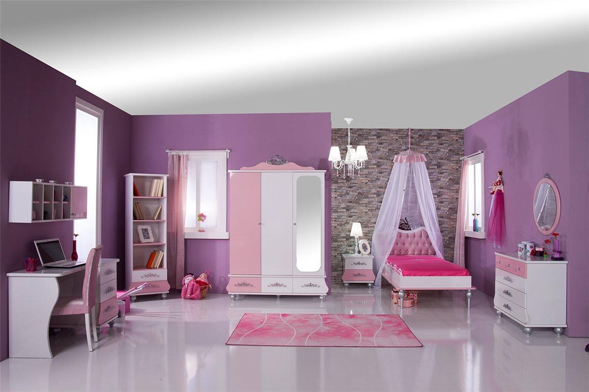kinderbett anastasia roas 90x200 m dchen kinderzimmer. Black Bedroom Furniture Sets. Home Design Ideas