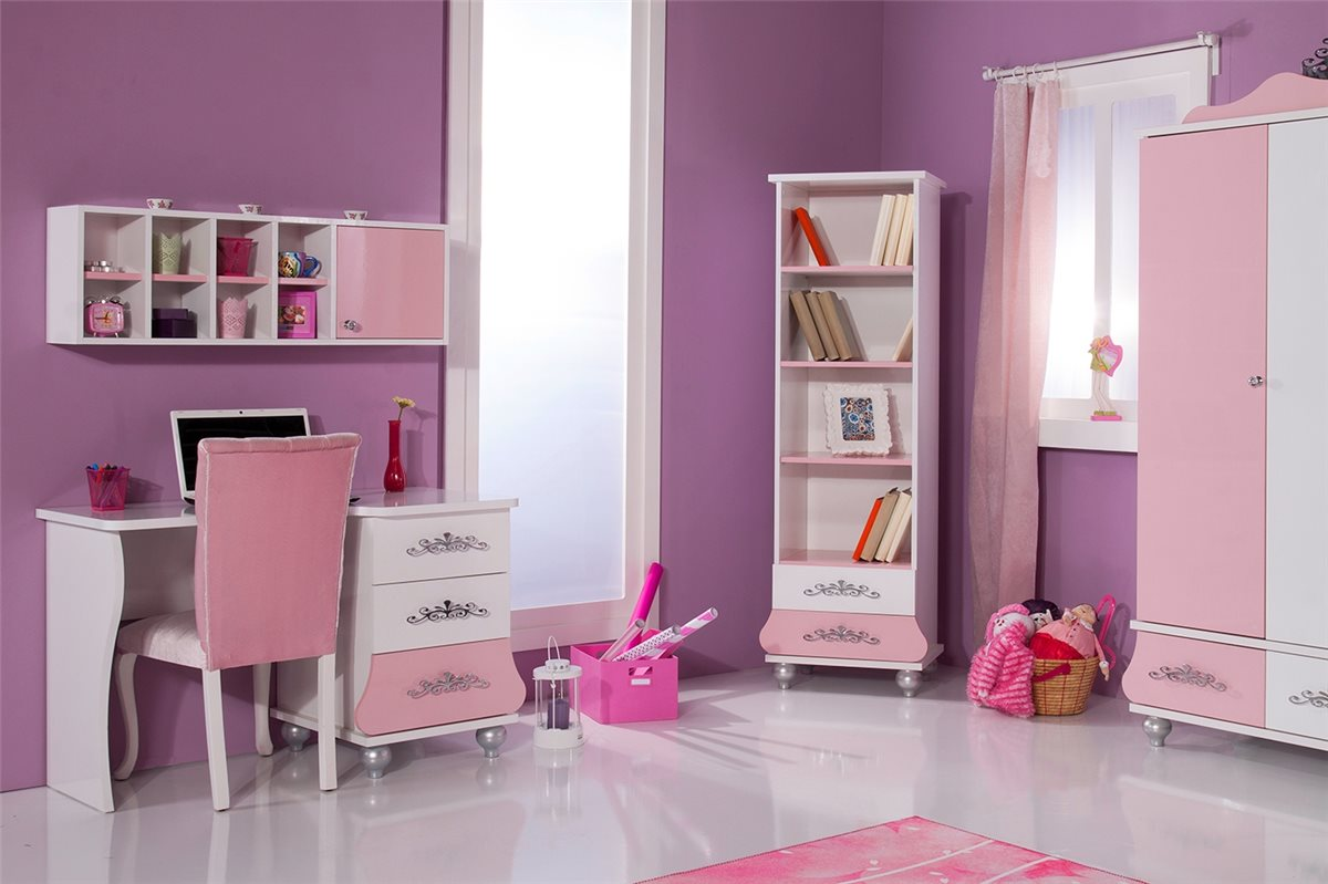Anastasia Bücherregal in Rosa Mädchen Kinderzimmer  eBay ~ Bücherregal Rosa