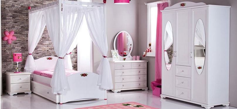 cindy stauraumbett 90x200 kinderbett f r m dchen wei ebay. Black Bedroom Furniture Sets. Home Design Ideas