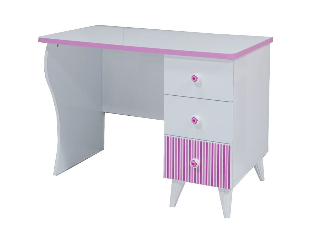 elissa schreibtisch wei pink f r m dchen kinderzimmer ebay. Black Bedroom Furniture Sets. Home Design Ideas
