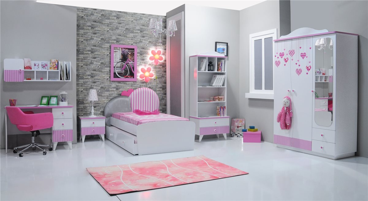 elissa aufsatz f r schreibtisch wand regal m dchen kinderzimmer ebay. Black Bedroom Furniture Sets. Home Design Ideas
