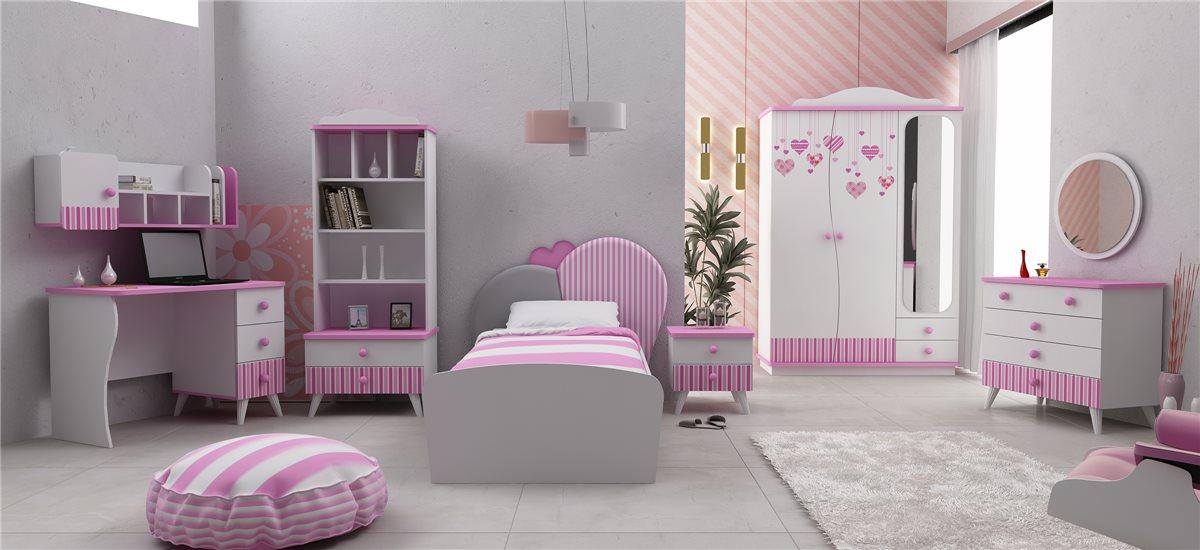 elissa aufsatz f r schreibtisch wand regal m dchen kinderzimmer ebay. Black Bedroom Furniture Sets. Home Design Ideas