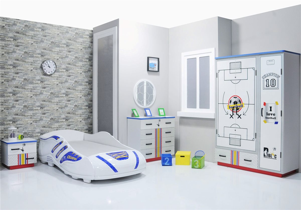 fussball kinderzimmer schreibtisch jungen ebay. Black Bedroom Furniture Sets. Home Design Ideas