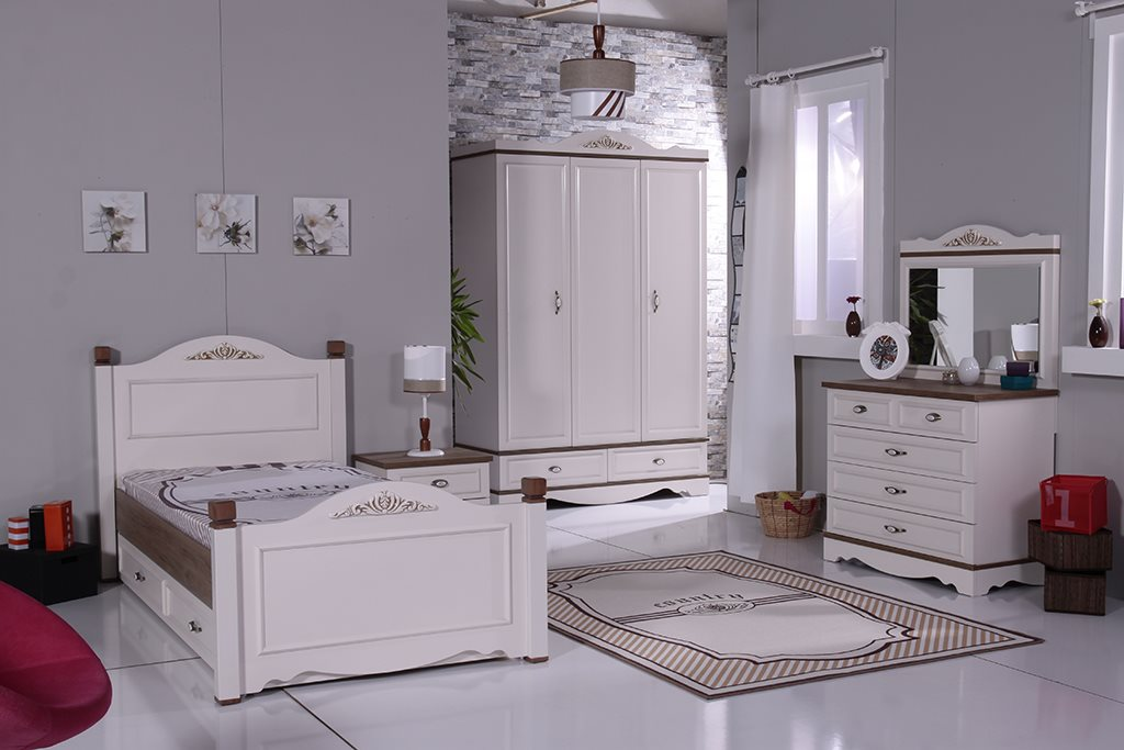 country nachttisch antikweiss m dchen m bel ebay. Black Bedroom Furniture Sets. Home Design Ideas