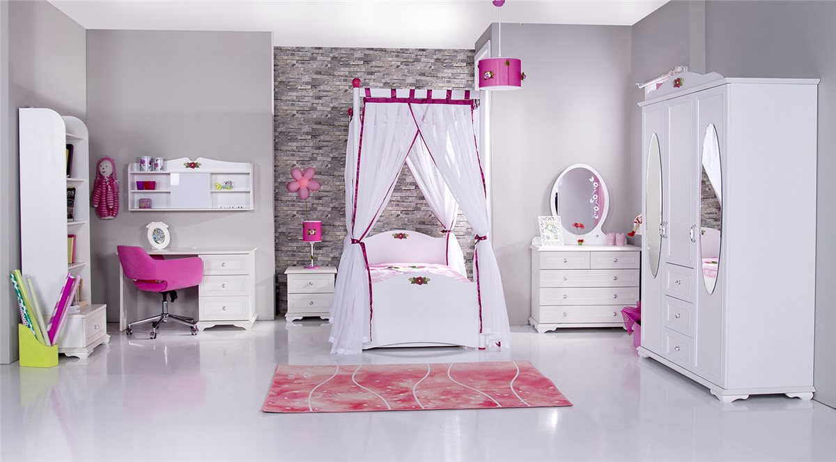 cindy himmelbett fuchsia kinderbett mit himmel ebay. Black Bedroom Furniture Sets. Home Design Ideas