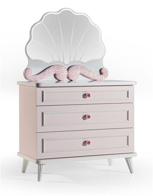 kinderzimmer m dchen rosa spiegel f r kommode ebay. Black Bedroom Furniture Sets. Home Design Ideas