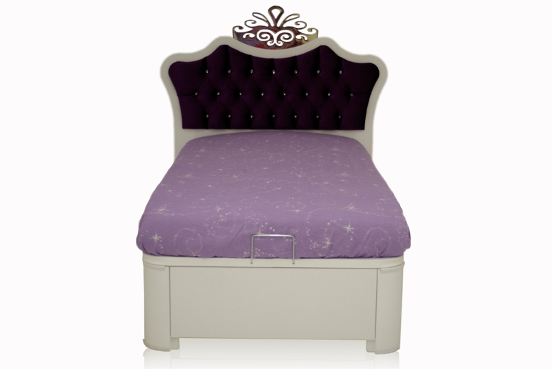 kinderbett m dchen lila anastasia 90x200 mit stauraum bett ebay. Black Bedroom Furniture Sets. Home Design Ideas