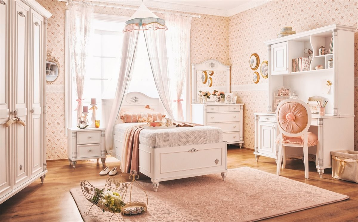 m dchen aufsatz f r schreibtisch klein romantic kinderzimmer wei ebay. Black Bedroom Furniture Sets. Home Design Ideas