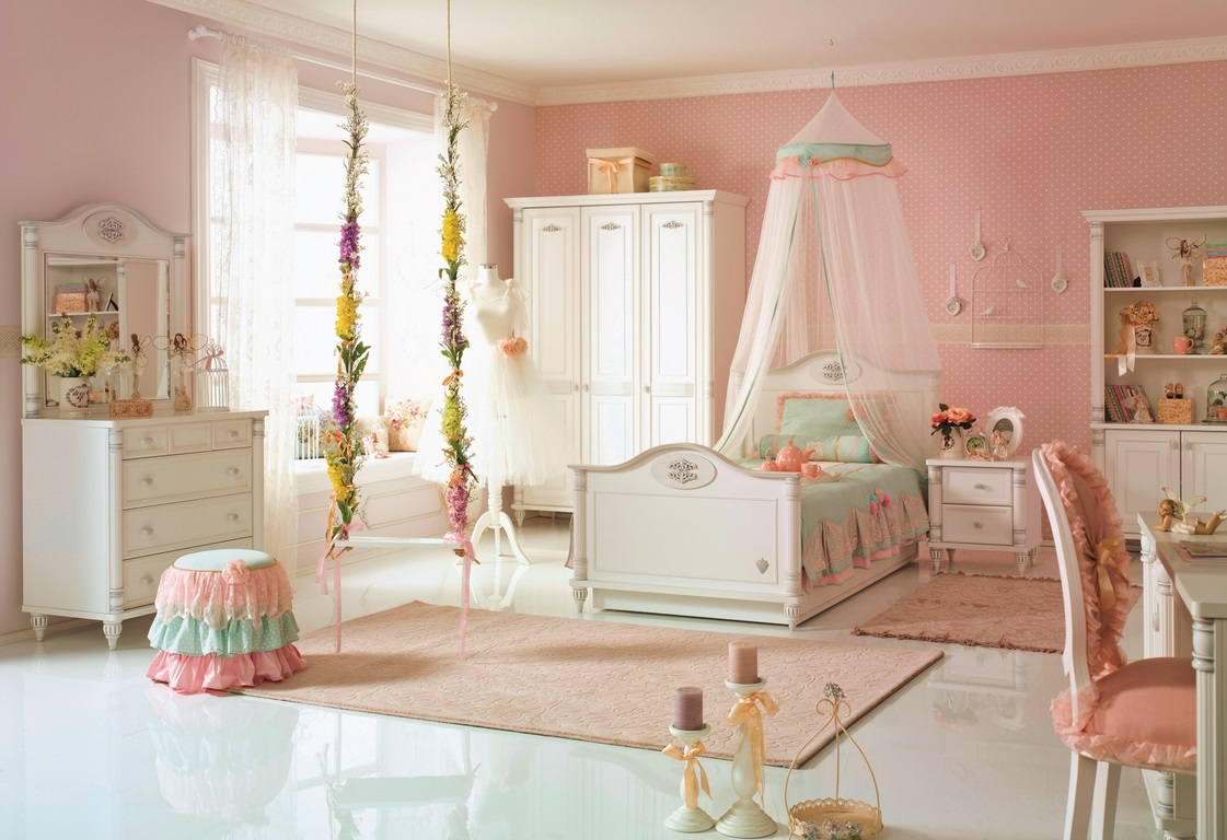 mädchen jugendbett 120x200 romantic kinderzimmer weiß - Kinderzimmer Mdchen Weiss