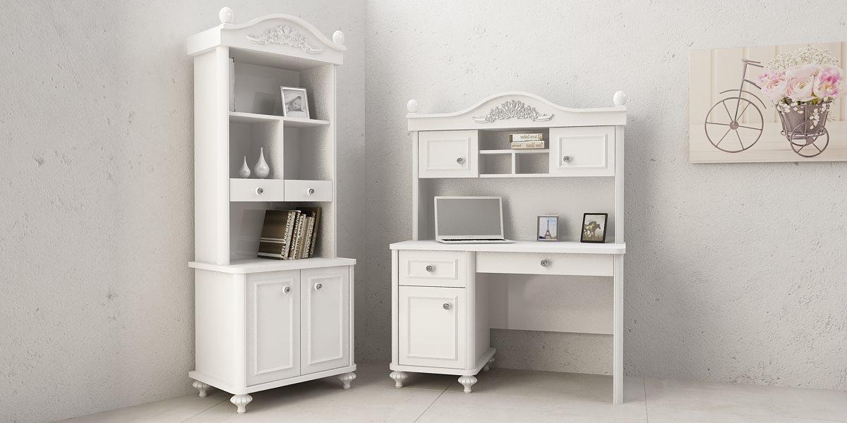 aufsatz f r schreibtisch bella wei m dchen tisch ebay. Black Bedroom Furniture Sets. Home Design Ideas