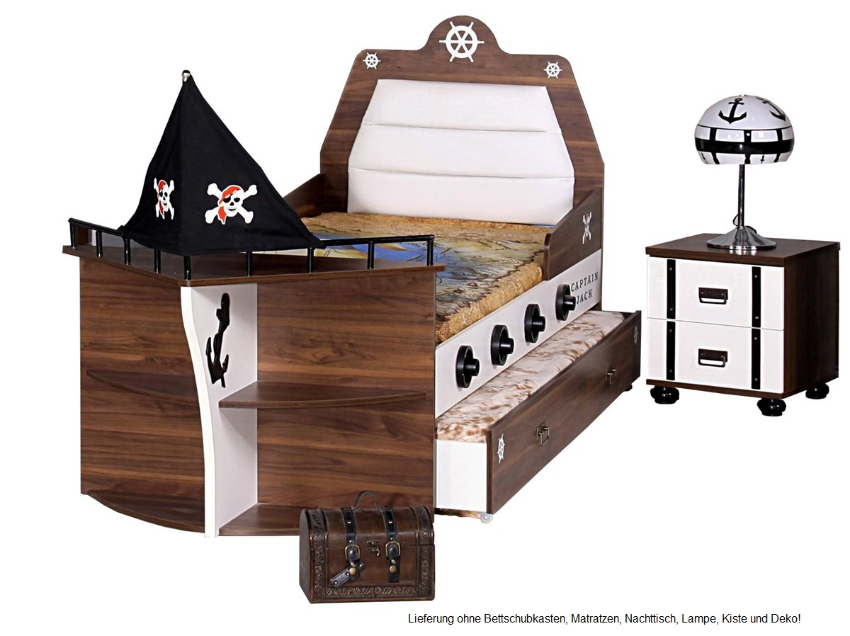 piratenbett piratenzimmer kinderbett pirat bett ebay. Black Bedroom Furniture Sets. Home Design Ideas
