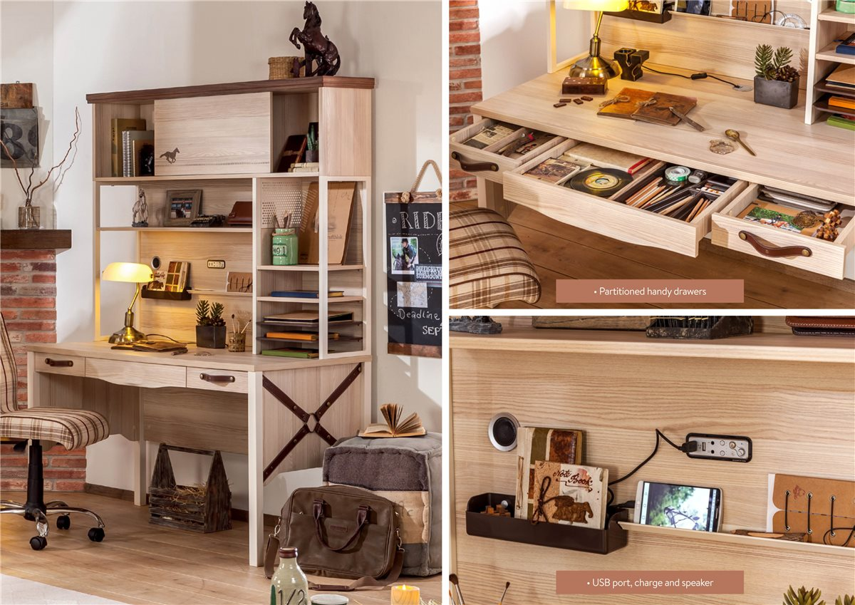 aufsatz f r schreibtisch royality extra breit 142cm ebay. Black Bedroom Furniture Sets. Home Design Ideas