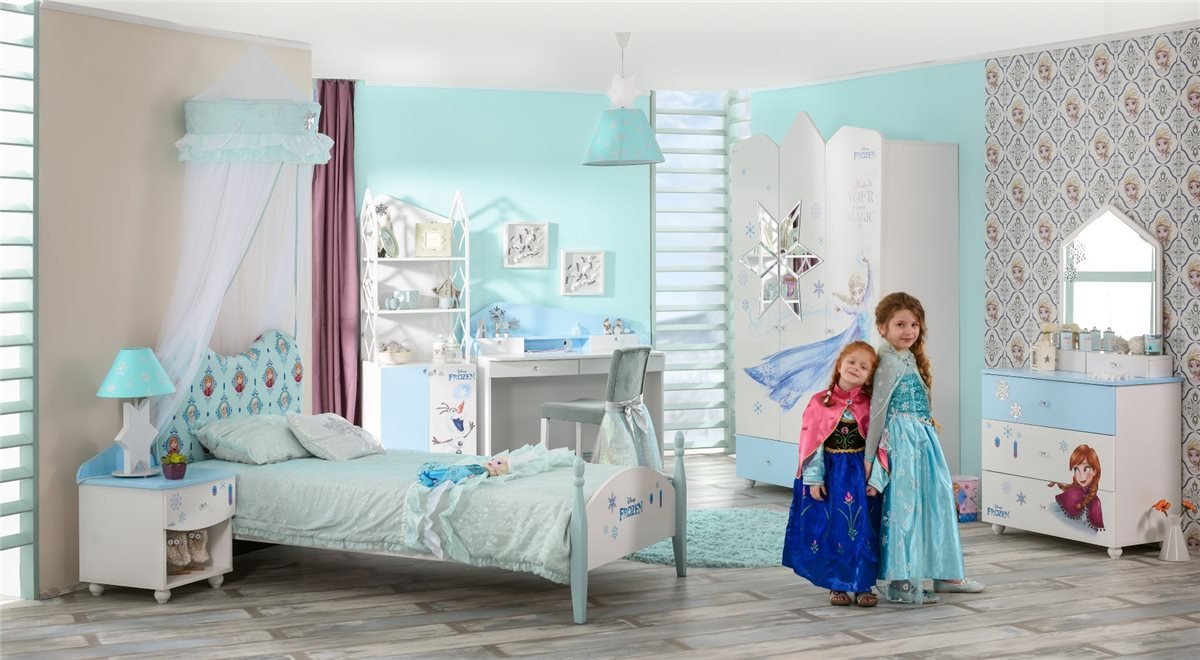 7er set frozen disney eisk nigin anna elsa frozen bett schrank ebay. Black Bedroom Furniture Sets. Home Design Ideas