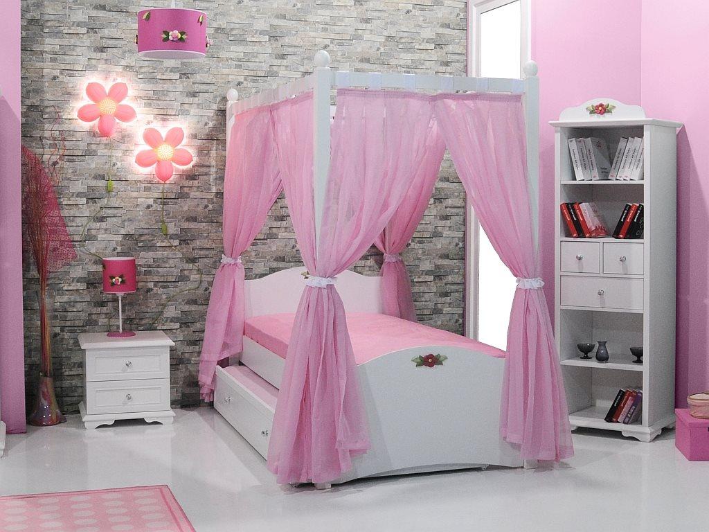 cindy himmelbett rosa kinderbett mit himmel ebay. Black Bedroom Furniture Sets. Home Design Ideas