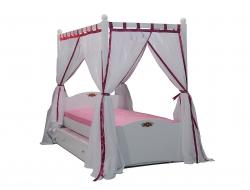 kinderbett mit himmel. Black Bedroom Furniture Sets. Home Design Ideas