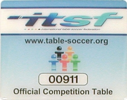 Tischfußball Pro Champion ITSF approved